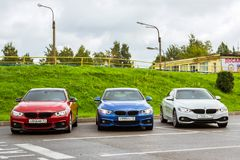 BMW автомобилей 4 серии, немецкий баварский изготовитель Стоковое фото RF