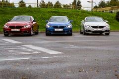 BMW автомобилей 4 серии, немецкий баварский изготовитель Стоковые Изображения RF
