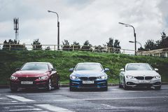 BMW автомобилей 4 серии, немецкий баварский изготовитель Стоковая Фотография RF