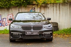 BMW автомобиля 7 серий, немецкий баварский изготовитель Стоковые Изображения RF
