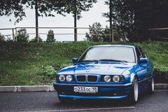 BMW автомобиля 5 серий, немецкий баварский изготовитель Стоковое Изображение RF