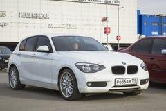 BMW автомобиля 1 серия, белый цвет Стоковая Фотография RF
