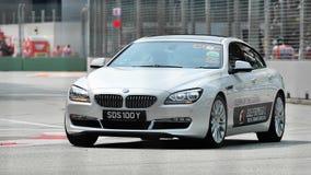 BMW переворот gran 6 серий на GP Сингапур Стоковое Изображение