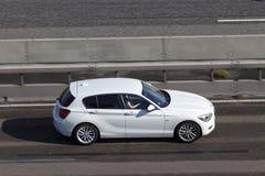 BMW 1 серия на шоссе Стоковое Изображение RF