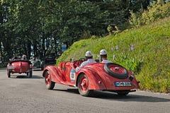 BMW 328 (1937)在Mille Miglia 2016年 库存图片