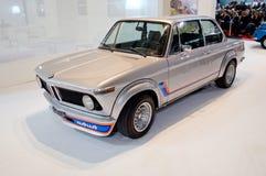 BMW 2002年涡轮在米兰Autoclassica 2016年 免版税库存照片