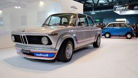 BMW 2002年涡轮在米兰Autoclassica 2016年 免版税库存图片