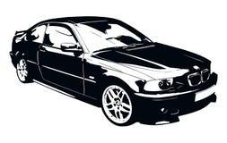 BMW黑白汽车 库存图片