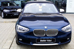 BMW 1 series. BMW car 1 er series, 118 d, new model Royalty Free Stock Photography