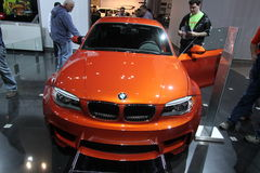 BMW 1 Series M Coupe. BMW exposition at Chicago auto show 2011 Stock Image