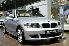 BMW 123d Cabrio. At the Moscow International Automobile Salon (MIAS-2010) August 25 - September 5 Stock Image