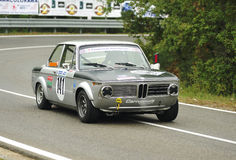 BMW 2000 TI. A BMW 2000 TI  attends the 31th edition of Coppa del Chianti Classico  a competition race of hill-climb for Historical cars valid for Royalty Free Stock Photography