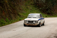 BMW 2002 during Rally Verde Pino 2012 Stock Image