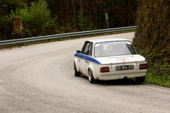 BMW 2002 during Rally Verde Pino 2012 Royalty Free Stock Photos