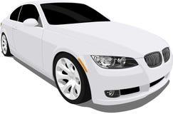 BMW 3 Reeksen van het Wit Stock Afbeelding