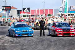BMW 3 series Challange. 2 champions racing themselves on King of Europe, Polus Center Cluj - 20.09.2009 Stock Image