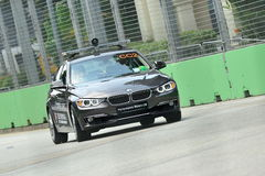 BMW 3 series course car at Singapore GP Royalty Free Stock Photography