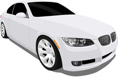Bmw 3 Series White. A Vector .eps illustration of a BMW 3 Series. Saved in layers for easy editing. See my portfolio for more automotive images stock illustration