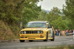 BMW 320 M. A BMW 320 M     attends the 33th edition of Coppa del Chianti Classico  a competition race of hill-climb for Historical cars valid for Royalty Free Stock Images