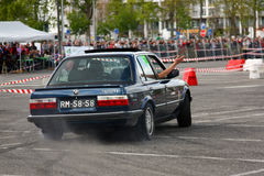 BMW 320i  during Leiria City Slalom 2012 Royalty Free Stock Photography