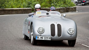 BMW 328 Mille游览Roadster的Miglia (1937) 库存图片