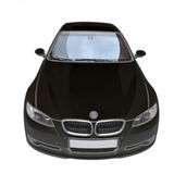 BMW 335i black convertible car Royalty Free Stock Photo