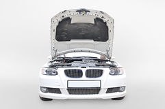 BMW 335i Bonnet open Royalty Free Stock Images