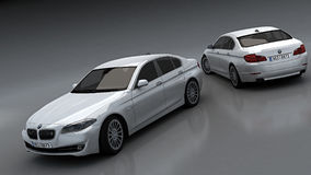 BMW 5 sedan stock illustration