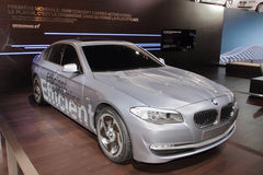 BMW 5 Series Hybrid - 2010 Geneva Motor Show Stock Photography