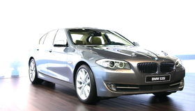 BMW 535i at Geneva International Motor Show, 2010 Stock Photography