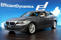BMW 535i at the Motor Show 2010, Geneva Royalty Free Stock Image