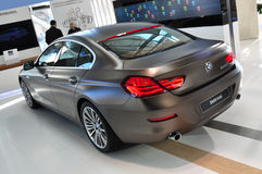 BMW 6 Series Gran Coupe. MUNICH, DECEMBER 11: new BMW 640i Gran Coupe at BMW Car Show on December 11, 2012 in Munich, Germany Stock Photos