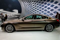 A bmw 6er gran coupe car Royalty Free Stock Photo