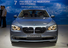 BMW 7 neufs heu modèle, hybride Photo libre de droits