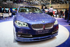BMW ALPINA B5 Bi-Turbo EDITION 50 , Motor Show Geneve 2015. Royalty Free Stock Photography