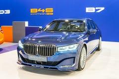 BMW ALPINA B7 BITURBO, Alpina Burkard Bovensiepen Gmbh ontwikkelt en verkoopt krachtige versies van BMW-auto's stock afbeelding