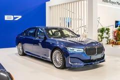 BMW ALPINA B7 BITURBO, Alpina Burkard Bovensiepen Gmbh ontwikkelt en verkoopt krachtige versies van BMW-auto's stock foto