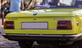 BMW Alpina. 2002 model yellow BMW Alpina at the demonstration of classical cars on the celebration Day of Liberation of Izmir on September 9th, 2016 Stock Images