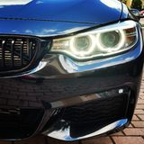 BMW anioła oczy Zdjęcia Royalty Free
