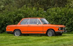 1974 BMW 2002. In antique car show in Iceland Stock Photos