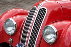 BMW antique rouge Photos stock
