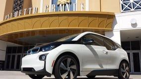 BMW-Anzeige stockbild