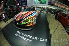 BMW art car by Jeff Koons royalty free stock images