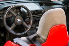 BMW-auto van de Sport de oude tijdopnemer stock foto