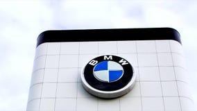 BMW Automobile  Dealership Exterior stock video footage