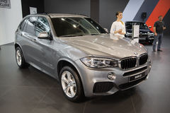 BMW X5. Belgrade, Serbia - March 23, 2017: New BMW X5 presented at Belgrade 53th International Motor Show - MSA OICA royalty free stock photography