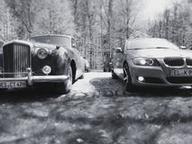 BMW-bentley oldtimer auto's Photographie royalty-vrije stock foto