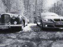 BMW-bentley oldtimer auto's Photographie Royalty-vrije Stock Foto
