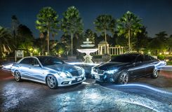 Bmw and benz Royalty Free Stock Photo