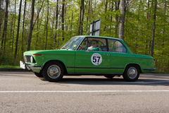 1976 BMW 1502 bij ADAC Wurttemberg Historische Rallye 2013 Royalty-vrije Stock Foto